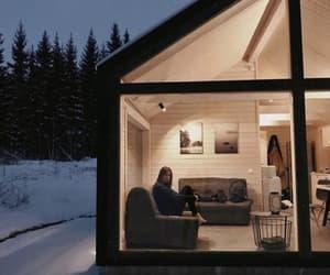 beautiful, snow, and wood image