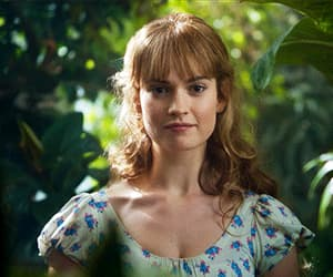 gif, lily james, and war & peace image
