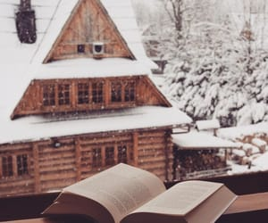 books, snow, and winter image
