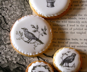 birds, biscuit, and black & white image