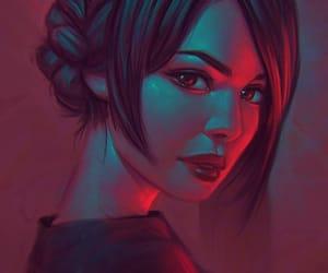 art, dark, and girl image