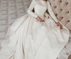 bride, wedding dress, and wedding gown image