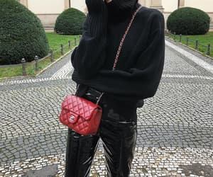 accesories, chanel, and knitwear image