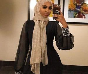 dress, hijab, and hijâbi image