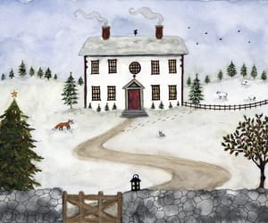 art, painting, and snow image