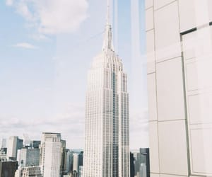 nyc, city, and empire state building image