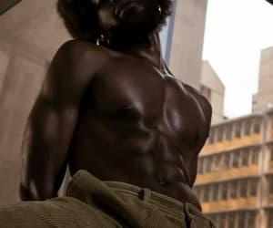 Afro, black, and dark image