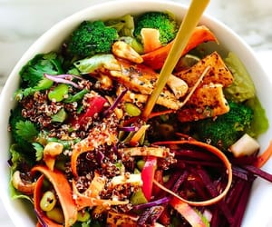 vegan, salad bowl, and vegan bowl image