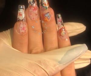 nails, acrylic, and cute image