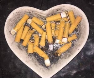 grunge, cigarette, and heart image