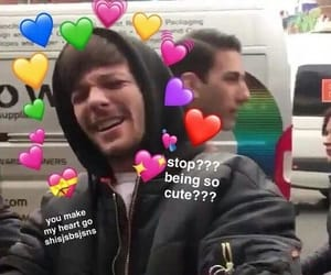 louis tomlinson, reactions, and love image