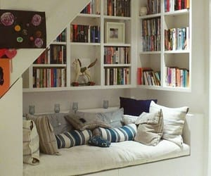 bookshelves, classic, and comfy image