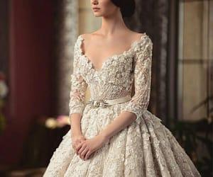 wedding, dress, and beauty image