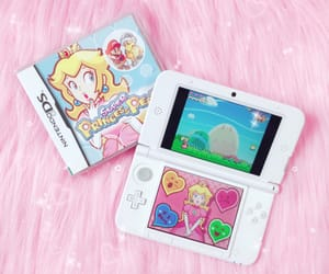 kawaii+pink+pastel, peach+bowsette+cute, and nintendo+3ds+gamepad image