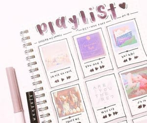 art, journaling, and playlist image