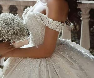 bride, dress, and fashion image