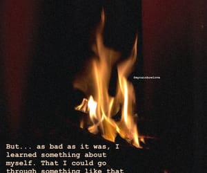fire, phrases, and quote image