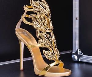 giuseppe zanotti, heels, and shine image