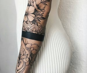 flowers, tattoo, and mandala image