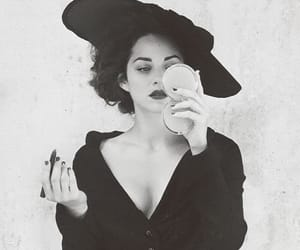fashion, black and white, and Marion Cotillard image