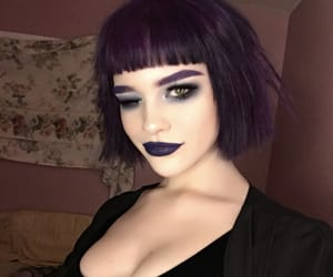 aesthetic, goth, and makeup image
