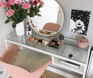 home, room, and flowers image