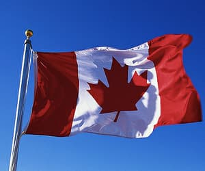 aesthetic, canada, and flag image