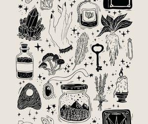 drawing, tarot, and edit image