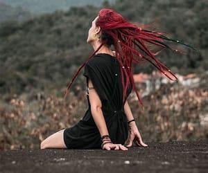 dreadlocks, dreads, and goth image