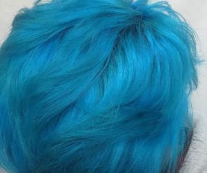 blue, blue hair, and style image