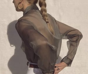 clothes, hairstyle, and elegant image