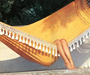 summer, legs, and hammock image