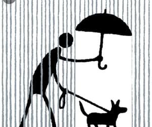 gif, umbrella, and dog walking image