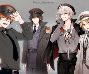 seven, jumin, and mystic messenger image