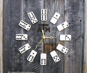 clock, domino, and diy image
