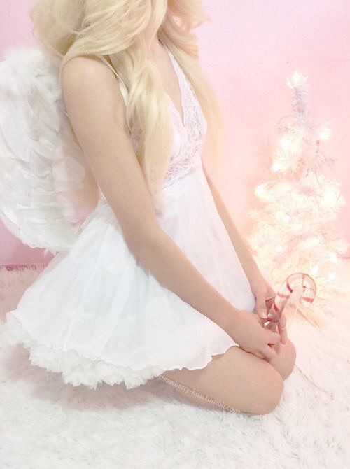 angel, pastel, and pink image
