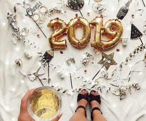 balloons, champagne, and drinks image