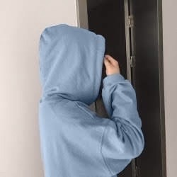 blue, aesthetic, and hoodie image