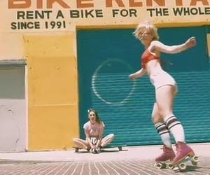 fun, old school, and roller skate image