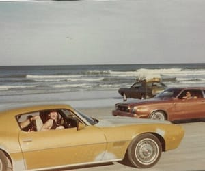 vintage, car, and beach image