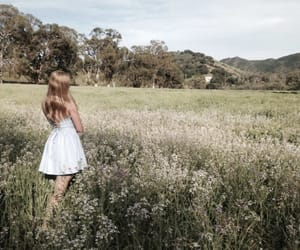 nature, girl, and dress image