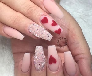 red, nails, and pink image