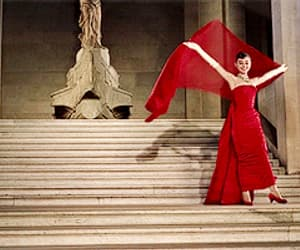 audrey hepburn, beautiful, and red image