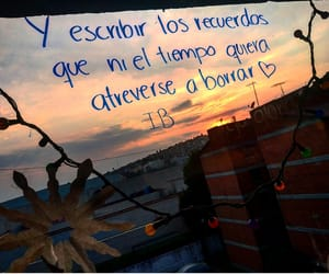 atardecer, frases, and letras image