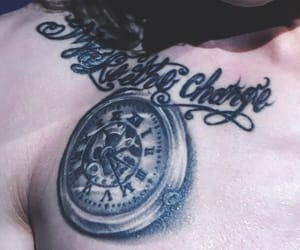 chest tattoo, make the change, and boy group image