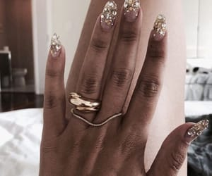 nails, gold, and accessories image