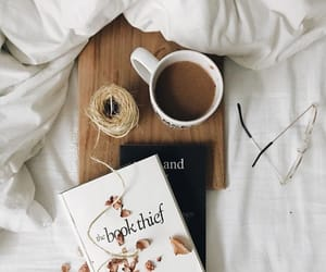 book, coffee, and booklover image