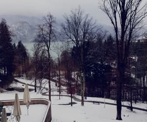 lake, mountains, and winter image