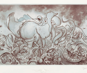 beach, illustration, and James Jean image