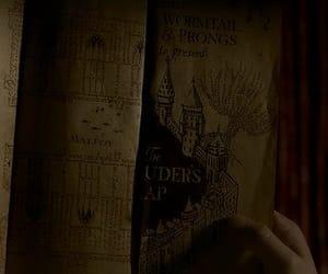 harry potter, magic, and marauders map image